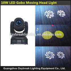 mini 7 gobos+white 10w moving head light DJ led moving head light