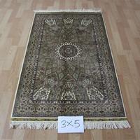 3x5ft Classic sunny high quality hand woven silk art turkish muslim prayer rug