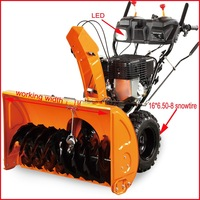 Best seller snowblower/snow blower/snowthrower with 15HP snow engine,LED light,1M working width