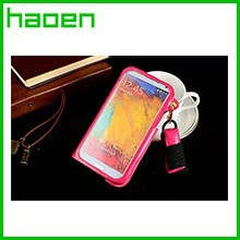 Leather Case For Samsung Galaxy Note 3 With Back Card Holder Neck Strap