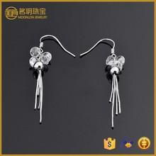 gemstone tassel earring !100% 925 sterling silver girl ficture earring!