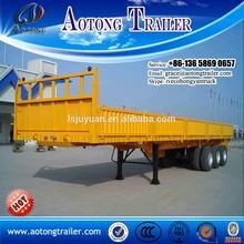 China liangshan manufacturer hot sale 12m-13m 3 Axles 40 ton 50 ton side wall guard truck side wall common cargo semi trailer