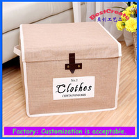 PE coated Jute clothes container box With custom size and logo for flowers