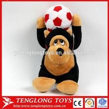 Giant Stuffed Animal Monkey Plush Toy With Basketball