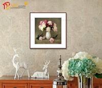 House wall art print simpel flower paintings