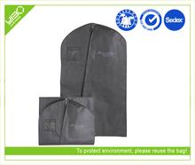Customized logo reusable storage foldable men suit bag