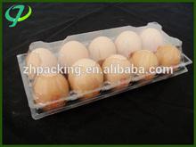 Atacado plástico clamshell blister PVC / PET bandejas de ovos