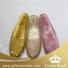 glitter powder for women pvc jelly shoes