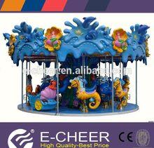 Hot sale popular various animal entertainment facility fun ocean carousel