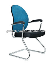 Modem blue back net back and metal office chairs for offices AH-315