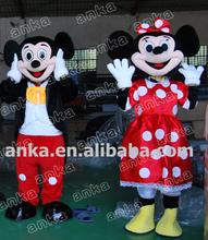 Atractivo de encargo de mickey minnie mouse traje de la mascota para adultos