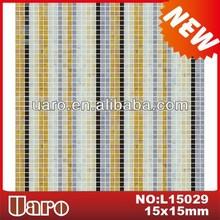 Interior decorative wall glass mosaic, glazed mix color mosaic pattern
