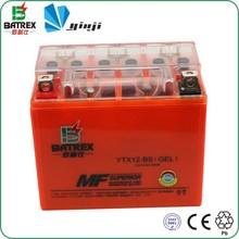 Chinese MF YUASA Orange 12V 12AH Gel Battery for YTX12-BS