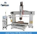 De China CE fuente de alimentación de 5 ejes 3d talla de madera machine1200X2400MM / CE certificado de plástico PVC 3d CNC de corte de la máquina / 5 eje