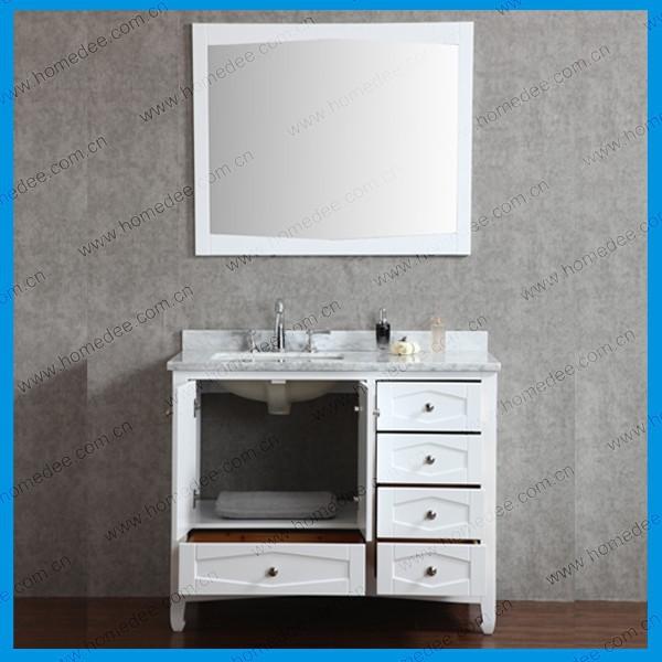 36 polegada blanc moderne salle de bains meuble d 39 angle - Meuble d angle avec tiroir ...