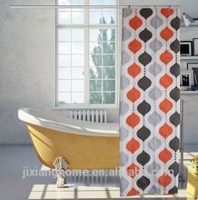 Print Design Beaded Shower Curtain