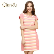 Qianxiu vivid colors fancy nightgown the top brand in China