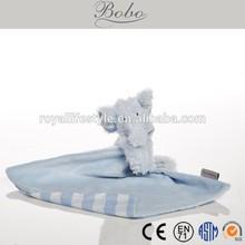 stuffed plush elephant baby blue blanket toy for babies