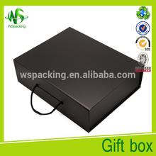 Matt black magnetic closure 8x8 paper gift box