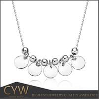CYW 2015 new design Cheap 925 Sterling Silver Pendant Necklace ,fish scale 925 Silver Pendant . South Korea jewelry