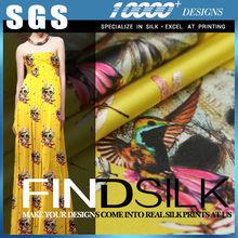 Hellosilk de fabricación de la marca nuevo tramo de tela de seda india por el patio