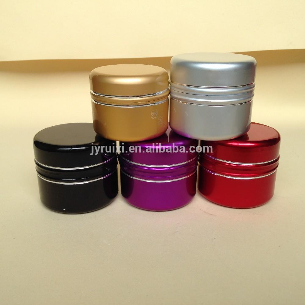 cosmetics cream empty jar in stock with plastic inner