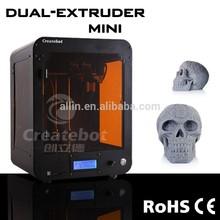 sigle double nozzles 220v 3d printer Createbot brand factory delivery 3d printer 150*250*440 mm 3d printer