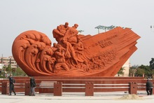 Guangzhou cement imitated artificial sandstone revolution large sculpture