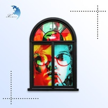 Wholesale wall decoration tinted flat printing window balcony glass