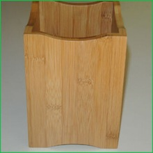 Beautifully Crafted Wooden Box Nicely Shaped Great Utility Holder