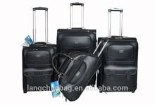 New design hot sale high quality snake PU 4 pcs in set luggage aluminum trolley luggage sets alibaba website