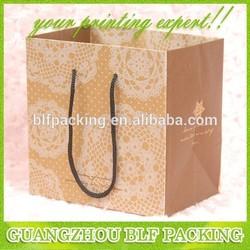 (BLF-PB998) Gold design paper wine glass carrier bag