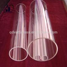 clear polishing thick silica quartz glass tube /quartz pipe