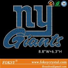 Custom rhinestone transfer new york giants design