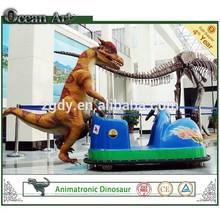 Amusement cartoon dinosaur car for kids play