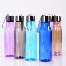 customizable blue plastic 600ml mineral water bottle