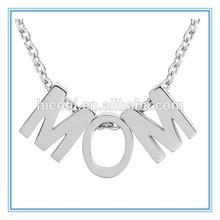 2015 newest design exquisite 'MOM' Initial Pendant