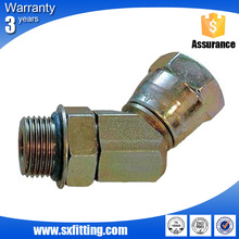 Elbow 90 Degree Carbon Steel Galvanized Standard Metric Cone Seat Hydraulic Fittings