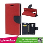 Mercury Durable Fancy Diary Flip Leather Wallet Case Cover w/ Stand & Card Slot for LG G3 Beat D722 D725 F470