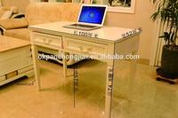wooden white computer desk