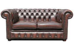 luxury chesterfield leather sectional sofa in sale HDS1303