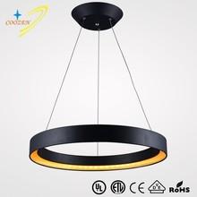 GZ30017-1R Suspension Acrylic pendant light hanging LED light for bedroom round black modern led pendant lamp