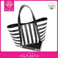 stylish fashion bag strip,handbags ladies tote bag made in china