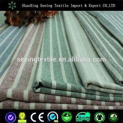 hotel bedding linen/satin stripe fabric for beddin