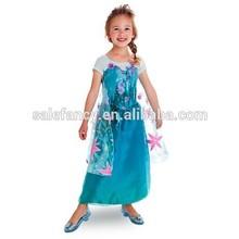 New Frozen Elsa Costume Princess Girls Child frozen elsa dress wholesale QKC-2291