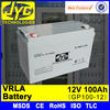 rechargeable valve regulated lead acid 24v 100ah battery for power system
