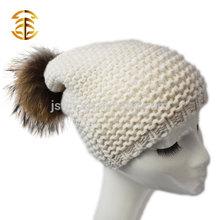 Stylish Snow White Lady's High Quality Wool Knitting Beanie Hat