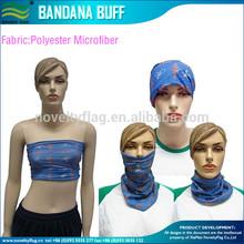 Customized Microfiber Polyester Multifunctional Seamless Bandana scarf