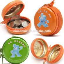 custom printing metal coin purse