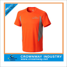 Unisex dri fit orange sport t shirt, wicked active tops with reflective logo